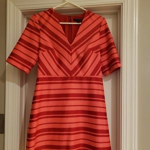 Orange and red striped dress